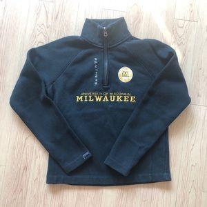 Embroidered black Milwaukee quarter zip sweatshirt
